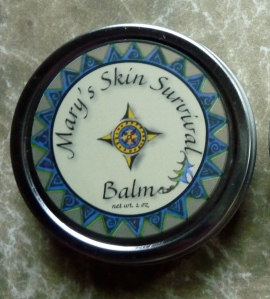 The give away is one tin of my skin balm, Mary's Skin Survival Balm