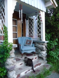 My porch with Esther
