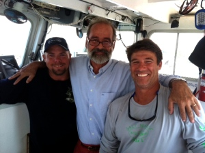 "My son Matt is now working on a show called, ""Wicked Tuna"". This is his boat and here is a picture of Jack hamming it up with captians Paul and JR"