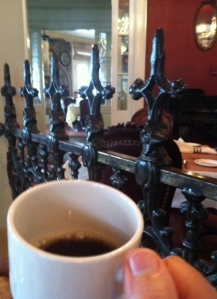 My first cup of coffee in New Orleans at Muriels'...a perfect little indulgence