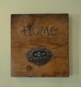 """my latest painting, """"HOME"""" (details on MY ARTWORK page)"""