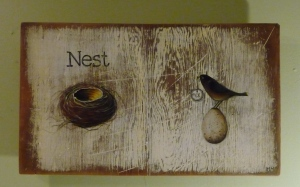 new painting, NEST EGG