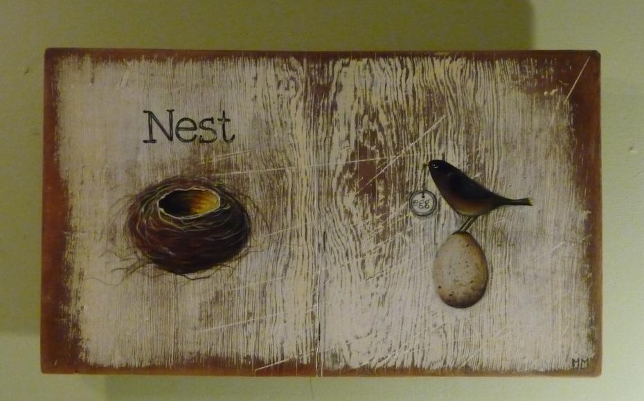 new painting, NEST EGG
